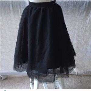 👗 Black Full Tulle (S)  Skirt by Charlotte Russe
